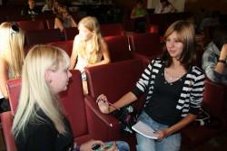 Певрое занятие Школы в 2009-2010 учебном году. Интервью-знакомство